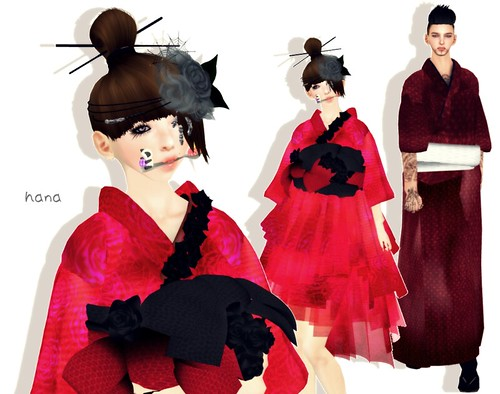 KIMONO DRESS。