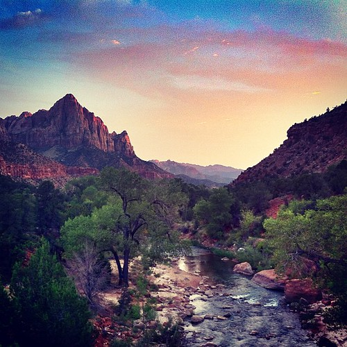 Sunset in Zion.