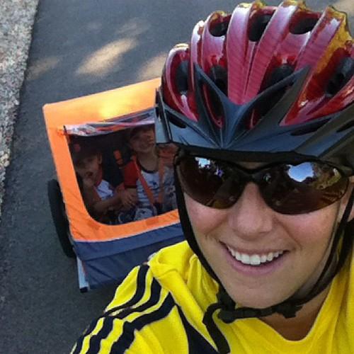 Best therapy...biking with my 2 boys!
