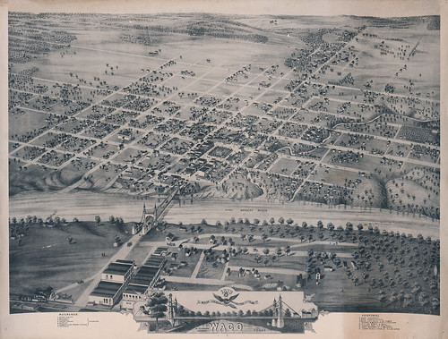 1873 Bird's Eye View of the City of Waco