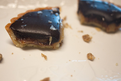 Chocolate Caramel Tart with Australian Sea Salt @ Yum! Bakery (Calgary Farmers' Market)