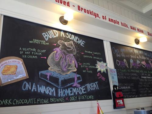 アイスクリーム屋さんの黒板。
