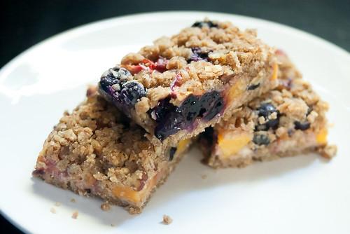 Peach-Blueberry Crumble Bars