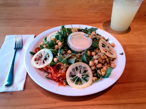 Chickpeas on Greens