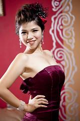 [フリー画像素材] 人物, 女性 - アジア, ワンピース・ドレス ID:201212112200