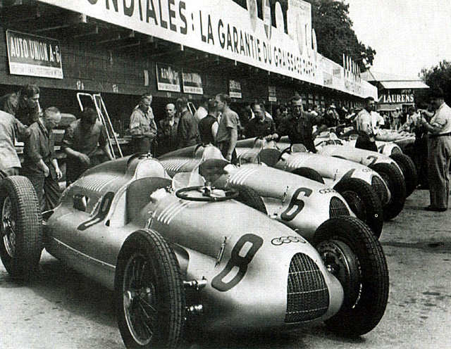 1938 Auto Union Typ D and C