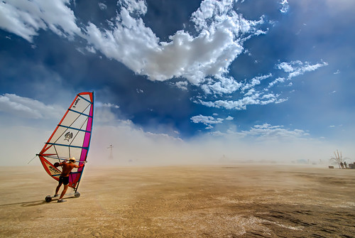 Sailing on the Playa