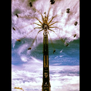 I WENT ON THIS! I have a horrible fear of heights buti went on it, @nataliealice giggled at me cos I had my eyes shut a lot. Thought I was going to poop myself with fear. BUT I DID IT!