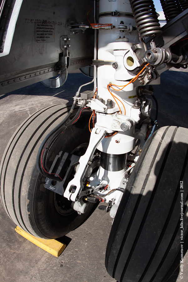 Main landing gear of SuperJet