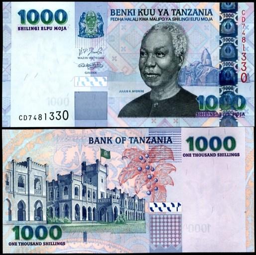 1000 Shillingi Tanzánia 2006, Pick 36