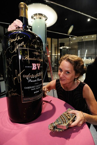 huge BV wine bottle