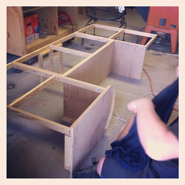 building new camper cabinets #pimpmycamper #handyhusband