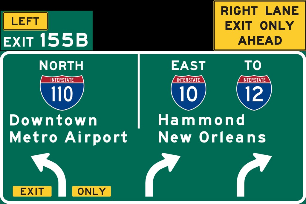 Highway Exit Sign Template We also have a new sign put up