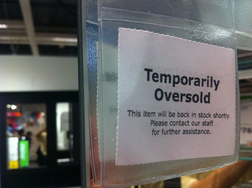 "IKEA is so successful that their products are ""oversold"", instead of ""out of stock"""