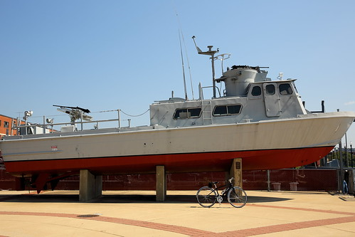 USN PCF Swift Boat with Bike