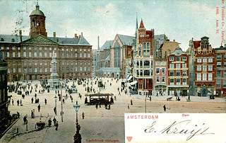Amsterdam - Dam Square (1905 Postcard)