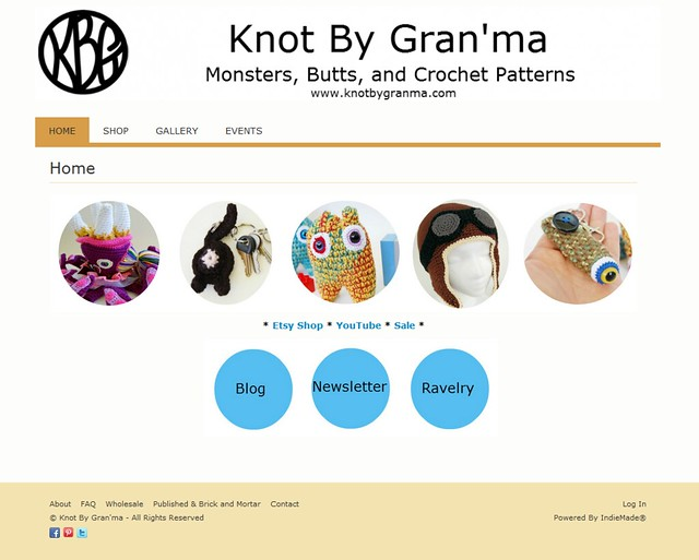 Knot By Gran'ma new website