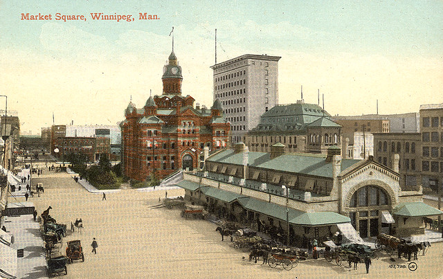 Old Postcard - Market Square, Winnipeg