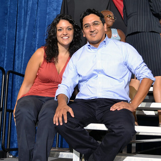 Alejandro and Cait are Educators for Obama