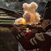 Black powder ignites in the firing pan of a flintlock musket at a Napoleonic war reenactment in Romsey, Hampshire by Anguskirk