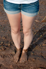 clothing, soil, skin, barefoot, limb, leg, fashion, mud, thigh, beauty, shorts,