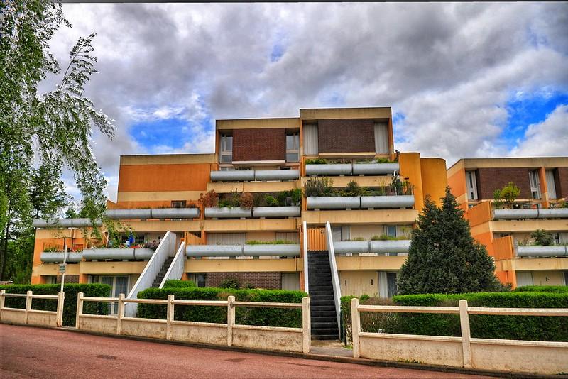 Evry Daily Photo - Quartier du Bras de fer - Allee du Pourquoi pas et allee Marco Polo - Architectes Andrault 2