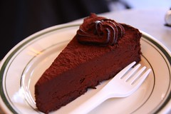 Delicious thick chocolate cake