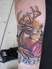keith marcelle-deer hunter memorial style tattoo