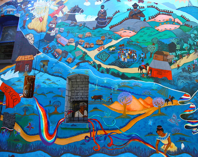 Chiapas paz mexico zapatista mural flickr photo sharing for Mural zapatista