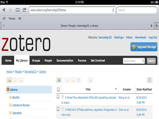 Zotero on iPad