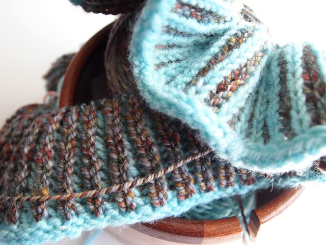 London Fog brioche cowl