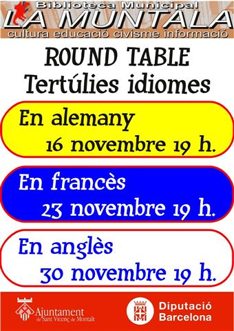 Round table @ novembre by bibliotecalamuntala