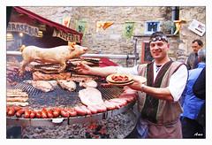 La parrilla de la feria de medieval en Vitoria