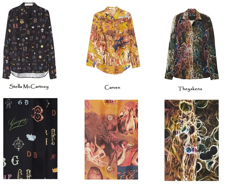 Printed silk shirt fall 2012a