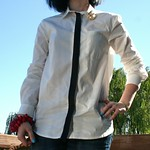 Fashion Star for H&M (Kara Laricks) button down with stripe