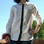 Fashion Star for H&M (Kara Laricks) button down with stripe