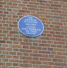 Photo of Arthur Sullivan blue plaque