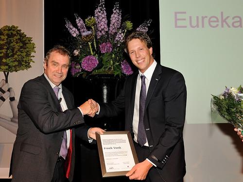 Uitreiking Eurekaprijs voor wetenschapscommunicatie 2012 aan Freek Vonk