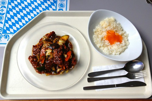 Fisch in Chili-Ingwer-Sauce / Fish with chili ginger sauce