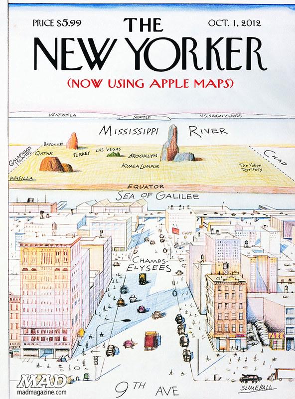 MAD Magazine Apple Maps Spoof