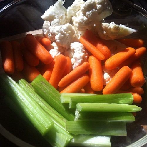 And of course a big bowl of vegetables