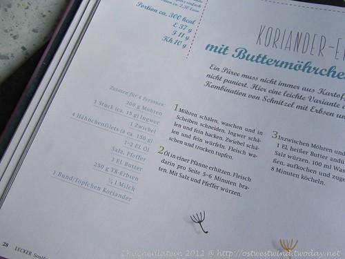 Koriander-Erbsenpüree mit Butter-Möhrchen und Hähnchen (2)