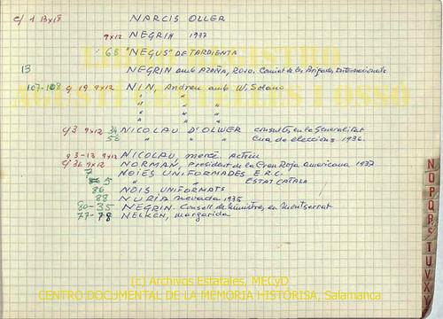 El «Negus de Tardienta» de puño y letra de Agustí Centelles. by Octavi Centelles