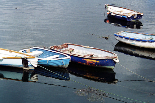 Boats Falmouth by 35mm_photographs