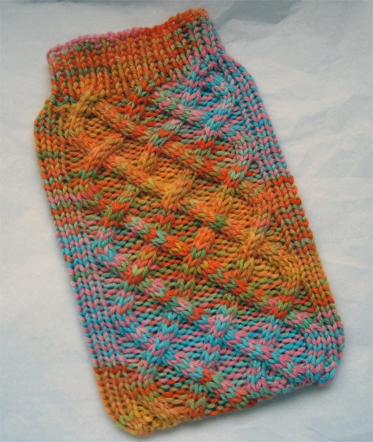 Kindle Cozy - handknit from wahm dyed yarn