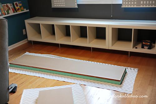 diy toy storage bench for nursery