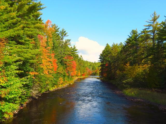 Mattawa river the bridge samuel de chlain provincial park on