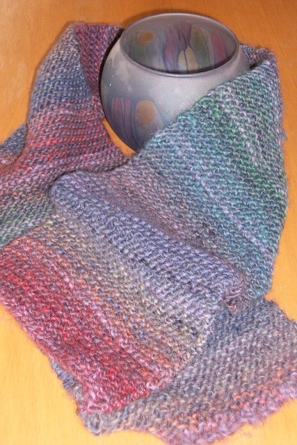 Knitted Scarf Patterns With Variegated Yarn : Variegated Yarn Scarf Flickr - Photo Sharing!