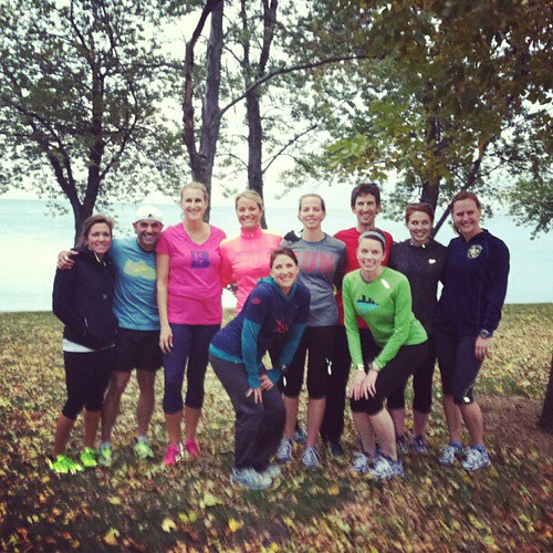 Lovely fall run by the lake with @BrooksRunning at the #ChiMarathon Expo yesterday.