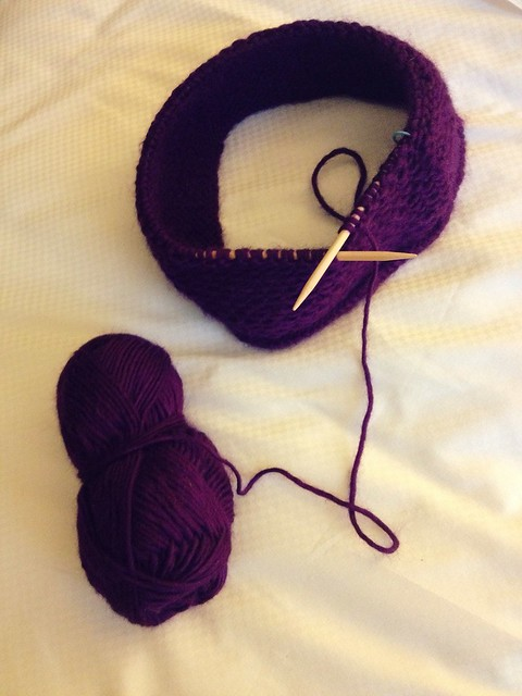 Honey Cowl Progress